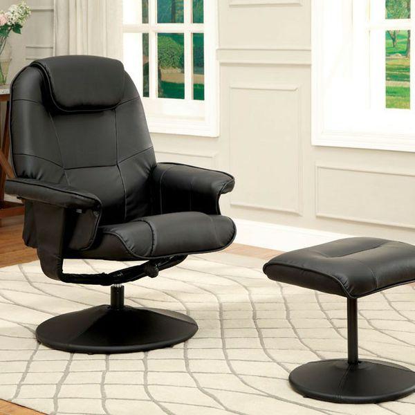Black leatherette cushion swivel recliner, sex uncensored hard teen