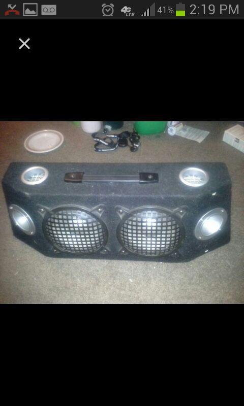 """Custom speaker box. x2 3"""" tweeters and x2 6"""" subs"""