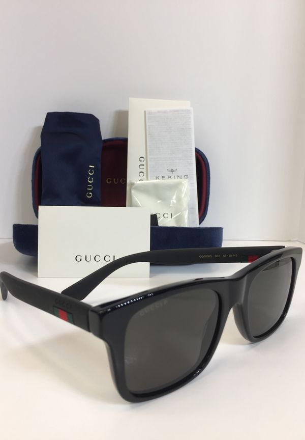 395ec28750 GUCCI Polarized GG0008S 002 black plastic Unisex Sunglasses for Sale ...