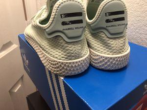 e61667336 Adidas X Pharrell Williams Tennis HU Linen Green Tactile Green CP9765 Men  Sz 8 for Sale in Lancaster