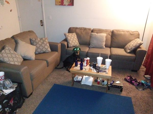 Ashley Furniture Love Seat W Sofa And Throw Pillows For Sale In Wichita