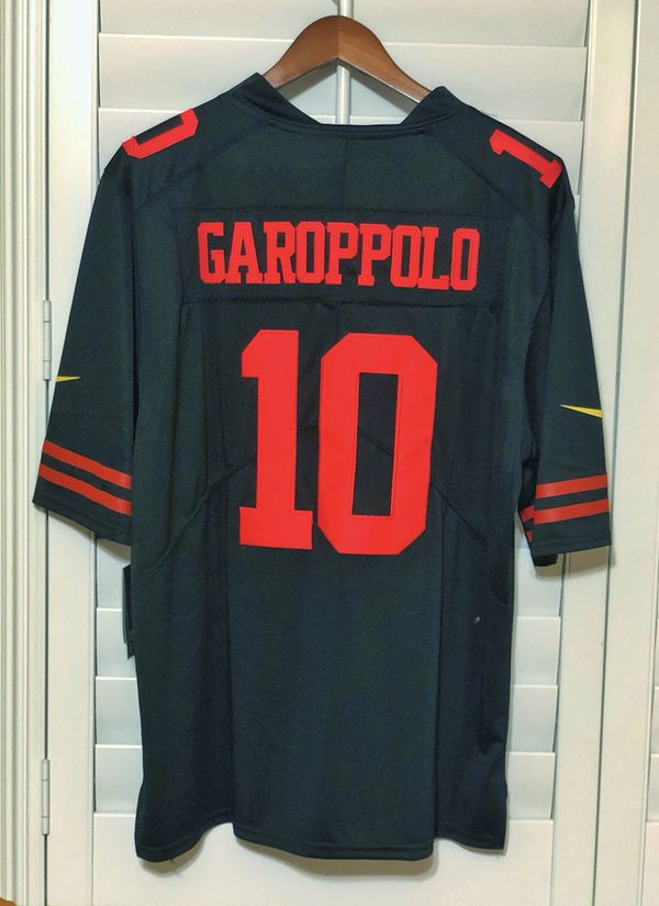 low priced 660cd 4c6b3 49ers black Jimmy G jersey large for Sale in Downey, CA - OfferUp
