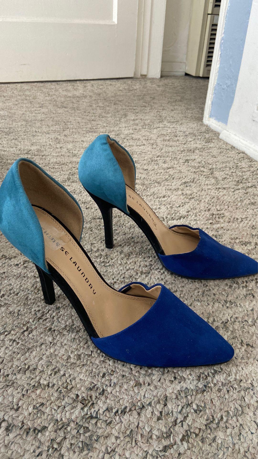 Chinese laundry Blue Heels