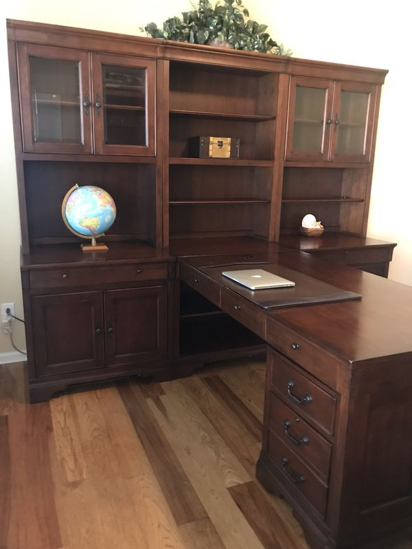 Partners Desk Hutch Lateral File And Rolling File With Additional Bookshelf For Sale In Phoenix Az Offerup