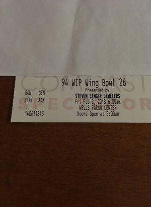 Wing Bowl 26 Ticket for Sale in Philadelphia, PA