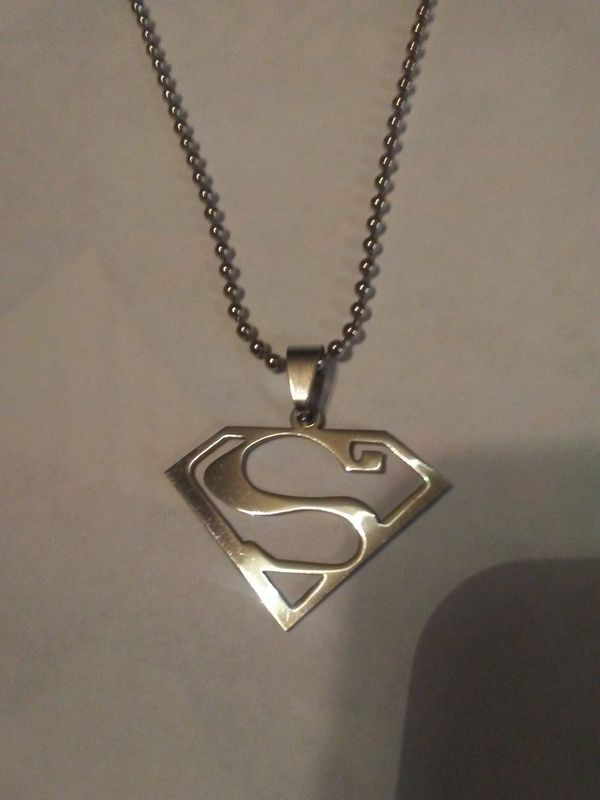 Stainless Steel Superman Necklace For Sale In Grove City Oh Offerup
