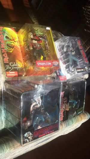 4 iron Maiden figures for Sale in Houston, TX
