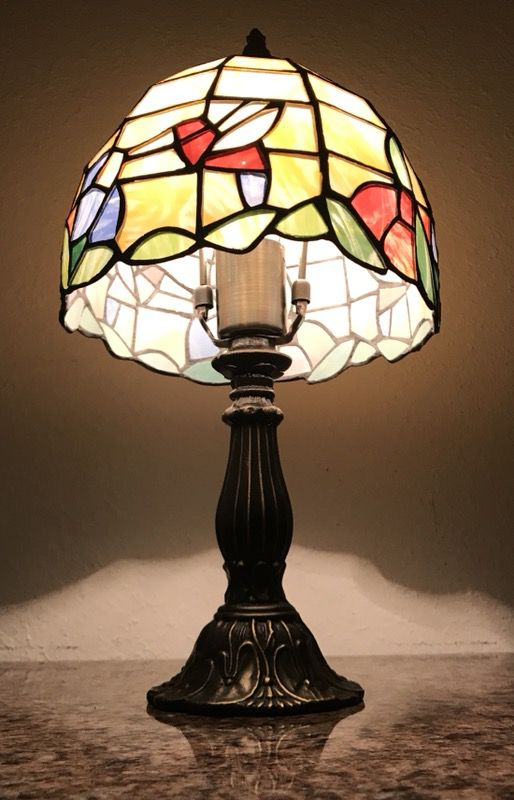 Moving sale beautiful vintage tiffany style stained glass table lamp moving sale beautiful vintage tiffany style stained glass table lamp 15 inches tall antiques in columbia sc offerup aloadofball Image collections
