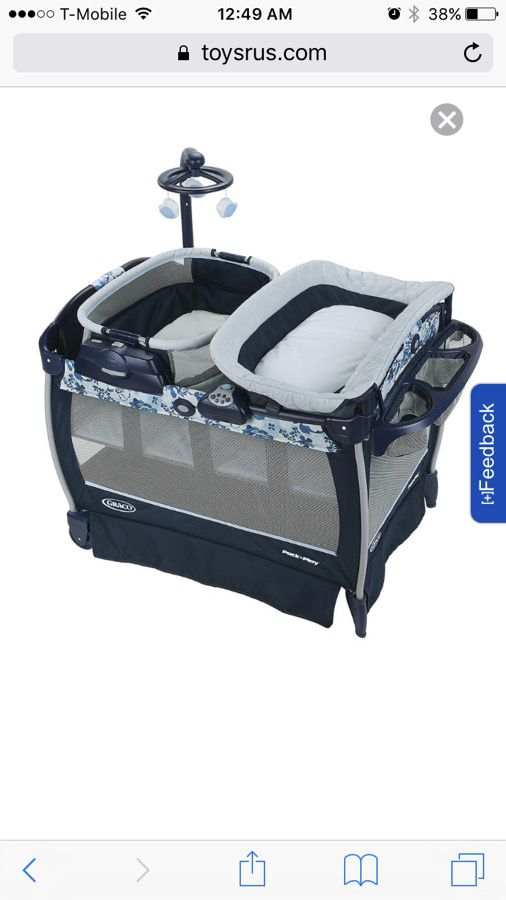 d3f13400d385 Graco Pack  n Play Playard With Nearby Napper Seat (Portable Rocker)    Changing Table - Tessa