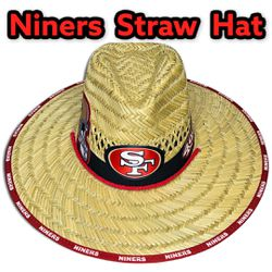 San Francisco 49ers straw hat (Great Father's Day Gift 🎁) Same Day Shipping If Paid By 3pm (I Also Have Other Team's)   Thumbnail