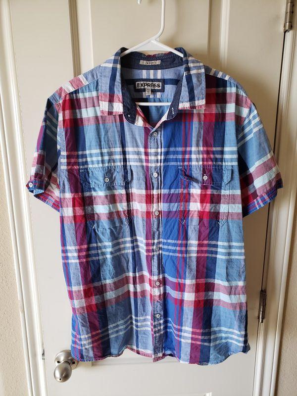 Mens Xl Express Ralph Lauren Calvin Klein Shirt For Sale