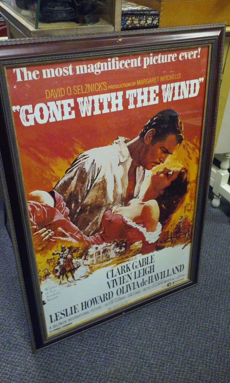 Framed Gone With The Wind Poster