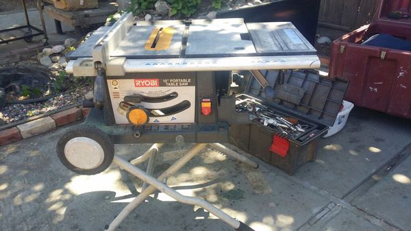 Ryobi table saw with rolling stand an all attatchments including ryobi table saw with rolling stand an all attatchments including dado blades tools machinery in saratoga ca offerup keyboard keysfo Images