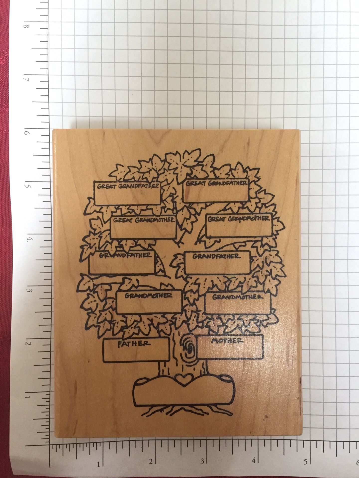 Family Tree Rubber Stamp