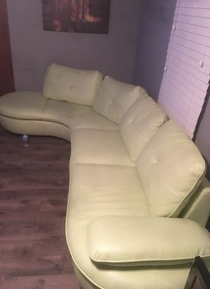 Lime green banana sectional sofa for Sale in Cleveland, OH