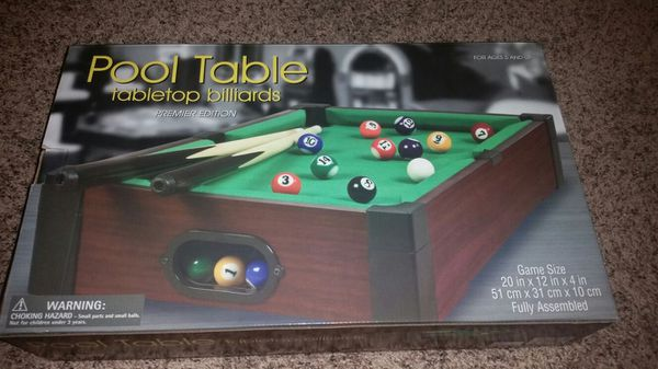 Brand New Mini Pool Table Tabletop Billiards For Sale In Parma OH - Tabletop pool table full size