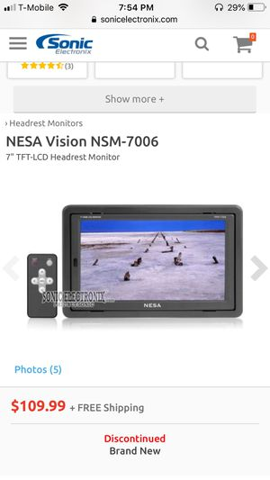 Nesa vision nsm-7006 monitors for Sale in Boston, MA