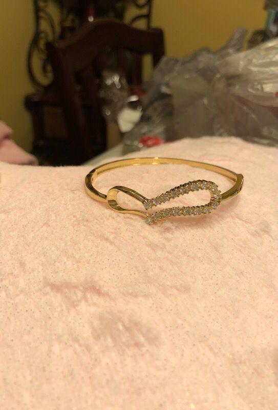 Lady bracelet gold layered