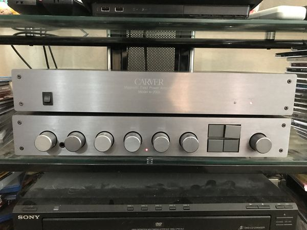 Vintage carver c-2 preamplifier and carver M-200t amplifier for Sale in  Rowlett, TX - OfferUp