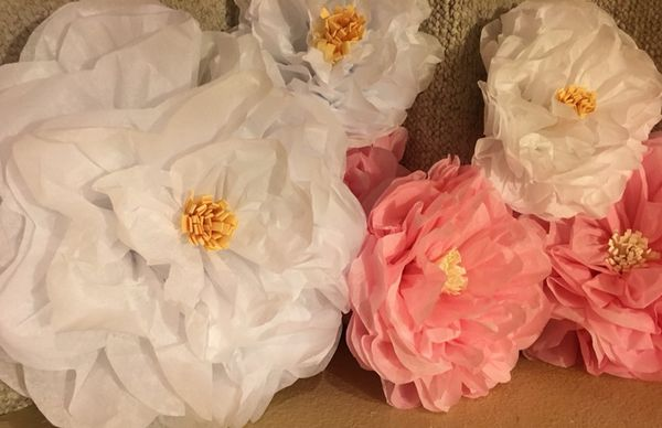 Elegant Tissue Paper Flower Decor For Sale In Poway Ca Offerup