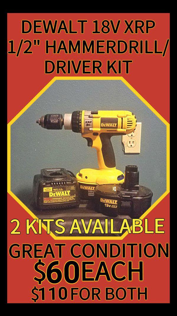 Dewalt 18v Xrp 1 2 Hamrill Driver Kit Tools Machinery In Steilacoom Wa Offerup