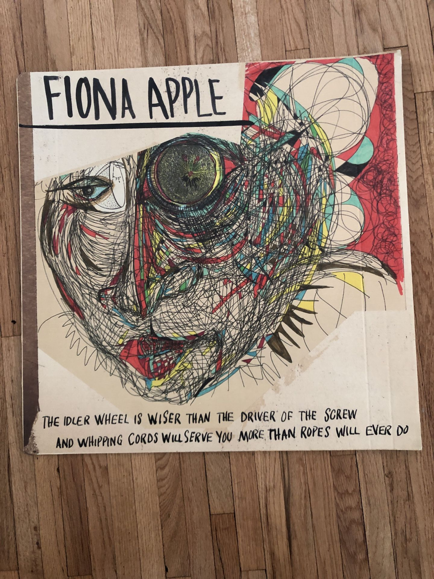 Fiona Apple - The Idler Wheel cardboard flat 24 inches by 24 inches