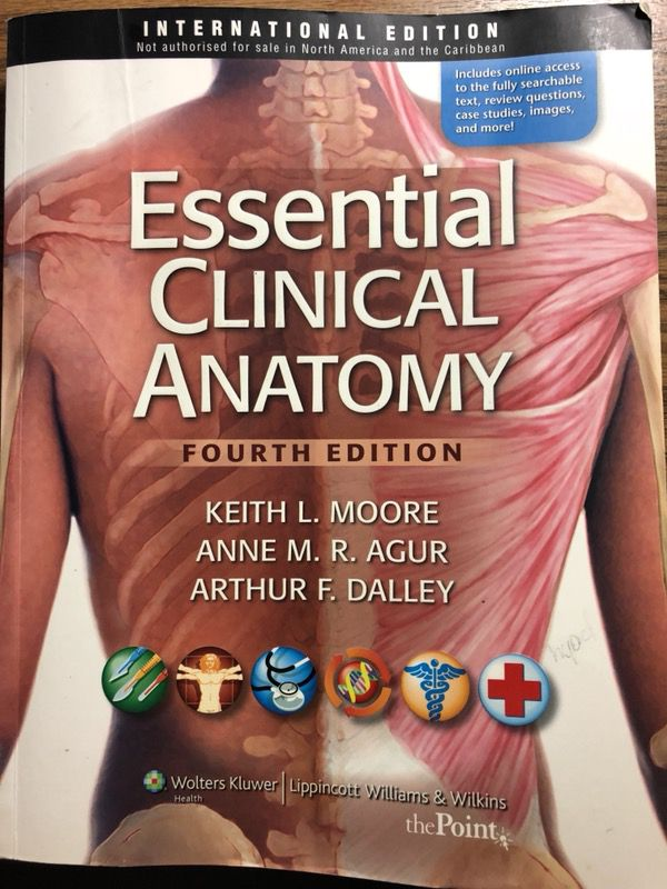 Essential Clinical Anatomy for Sale in Charlotte, NC - OfferUp