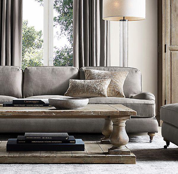 Restoration Hardware Linen Sofa For In Sline Wa Offerup