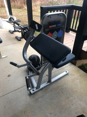 2 used lifefitness simbio exercise machines biceps and a triceps seated dip fitness gym for Sale in Appomattox, VA
