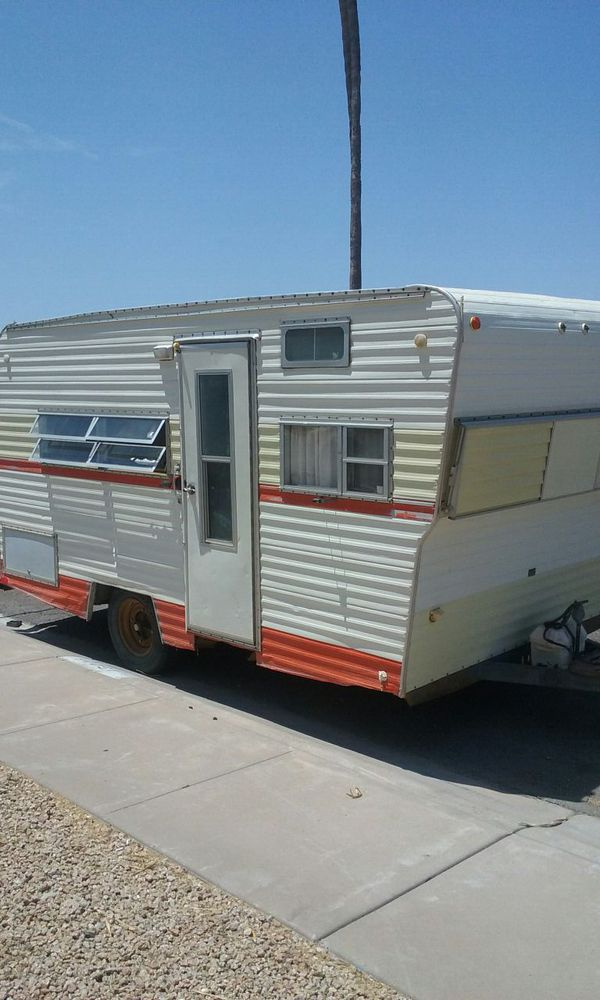 1976 Red Dale 14 ft camping trailer clean title in hand ...