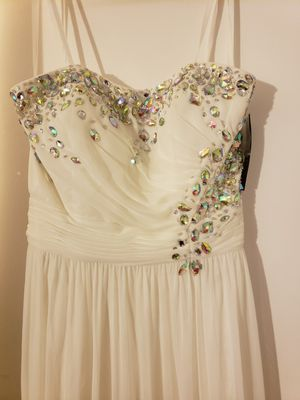 White evening dress for Sale in Springfield, VA
