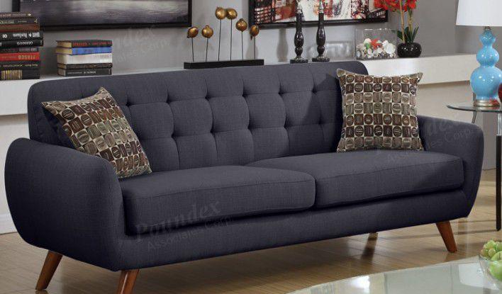 "Brand new 82"" linen mid century sofa only"