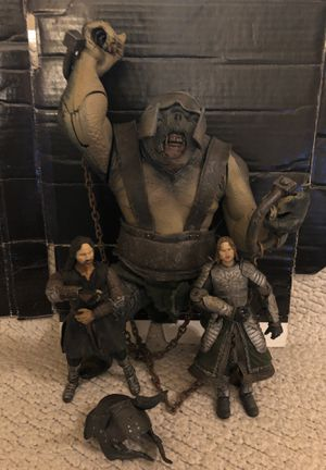 Photo Toy Biz Lord Of The Rings 2Towers ARMORED CAVE TROLL & Figures Lot