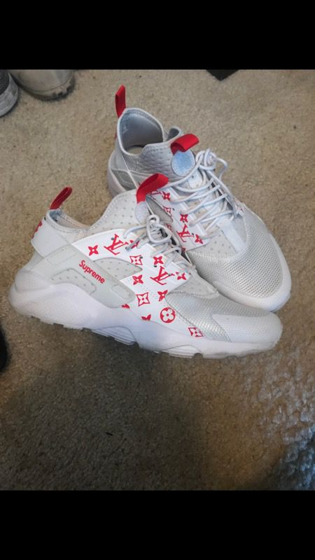 Custom LV Supreme Huaraches For Sale In Indian Trail NC