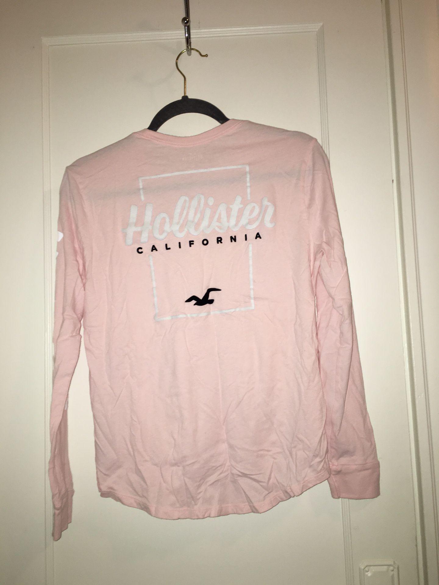Light Pink Hollister Shirt, Size XS