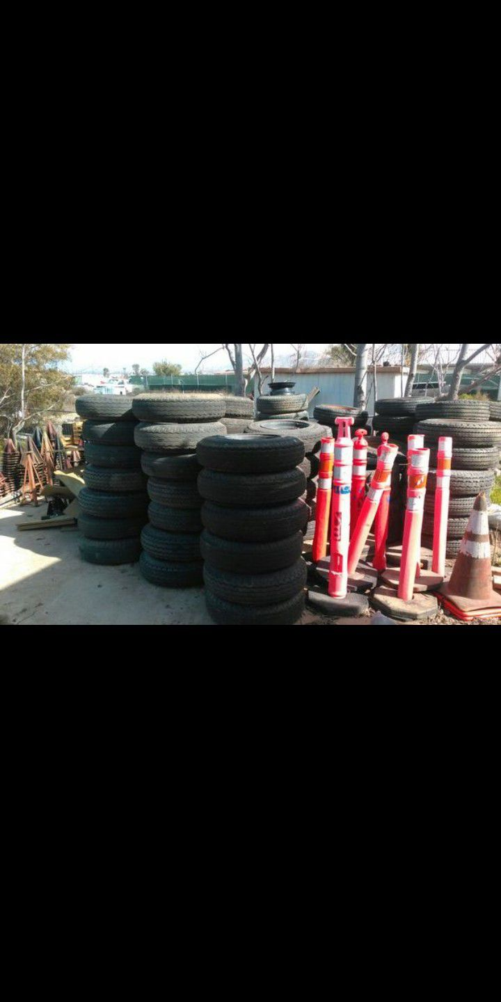 Mobile home office trailer axles tires stands piers jacks