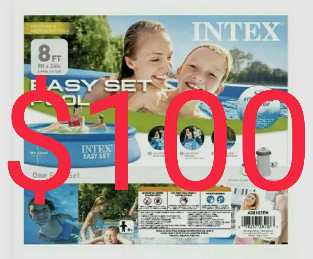 Intex 8ft By 24inch EASY SET POOL With Filter Pump