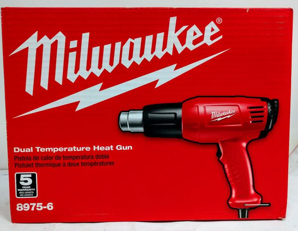Milwaukee 8975-6 11.6 Amp 570//1000-Degree Fahrenheit Dual Temperature Heat Gun