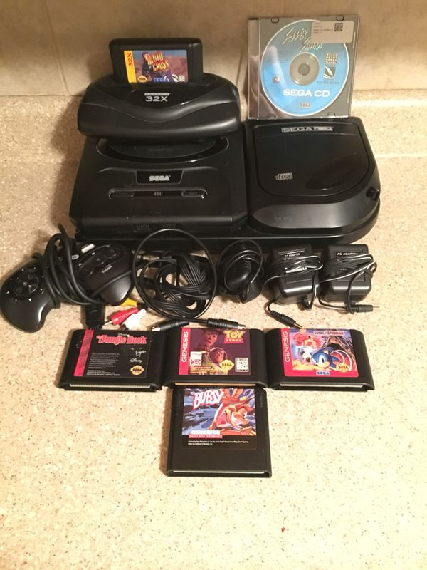 Sega Genesis With Sega CD and Sega 32x Lot for Sale in Fairview, NJ -  OfferUp