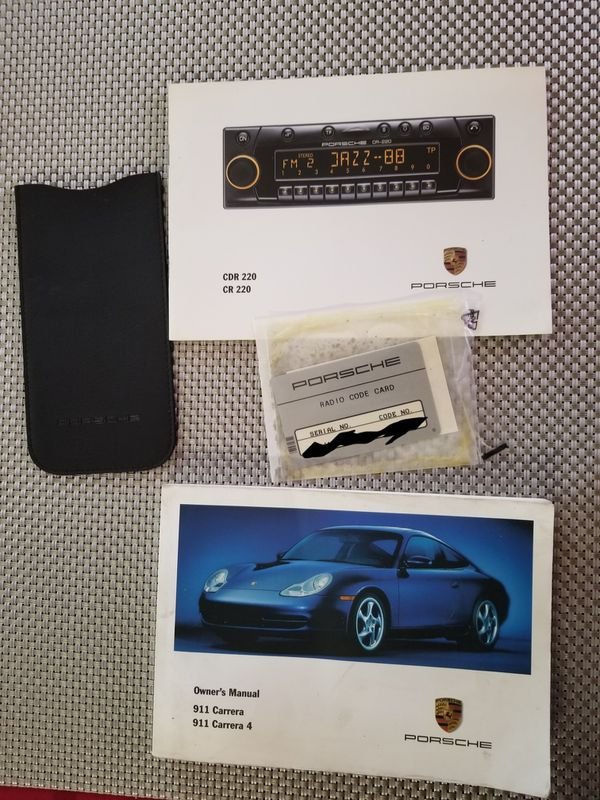 Porsche 911 1999 Owners Manual Radio Code Card And Sungles Case For In Queens Ny Offerup