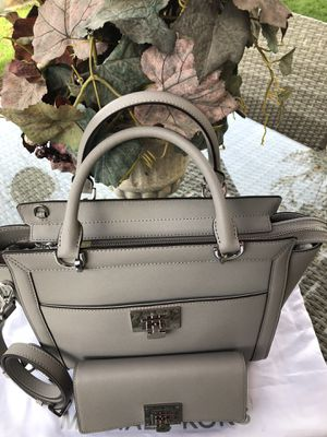 49c5bd3e2832 Mk set purse and wallet Tina satchel ASH grey color New for Sale in Corona,  CA - OfferUp
