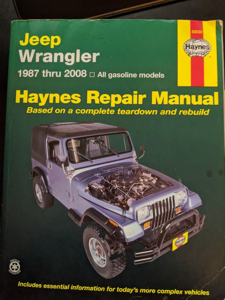 Jeep Wrangler repair book