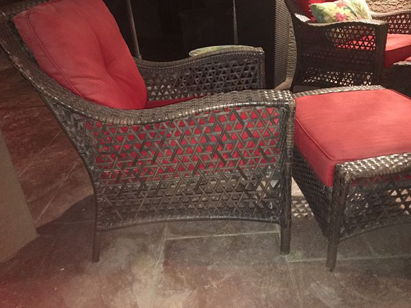6pc Patio Backyard Wicker Set Grand Basket Co For Sale