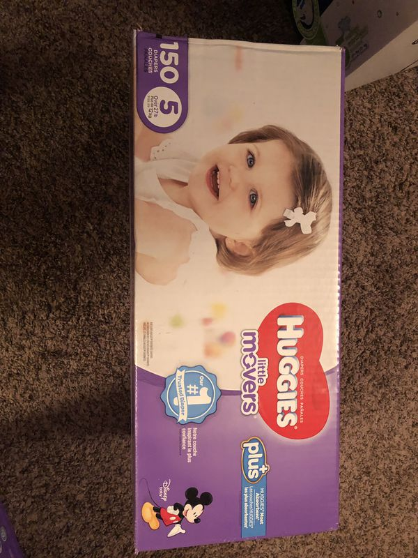 Huggies Little Movers Plus Diapers Size 5 150 Ct For Sale In Kent