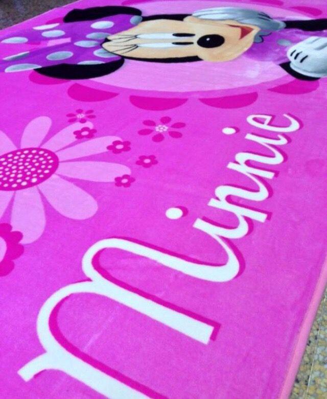 "Large Disney Minnie Mouse 54""x80"" Non Slip Area Rug Carpet Children Play"