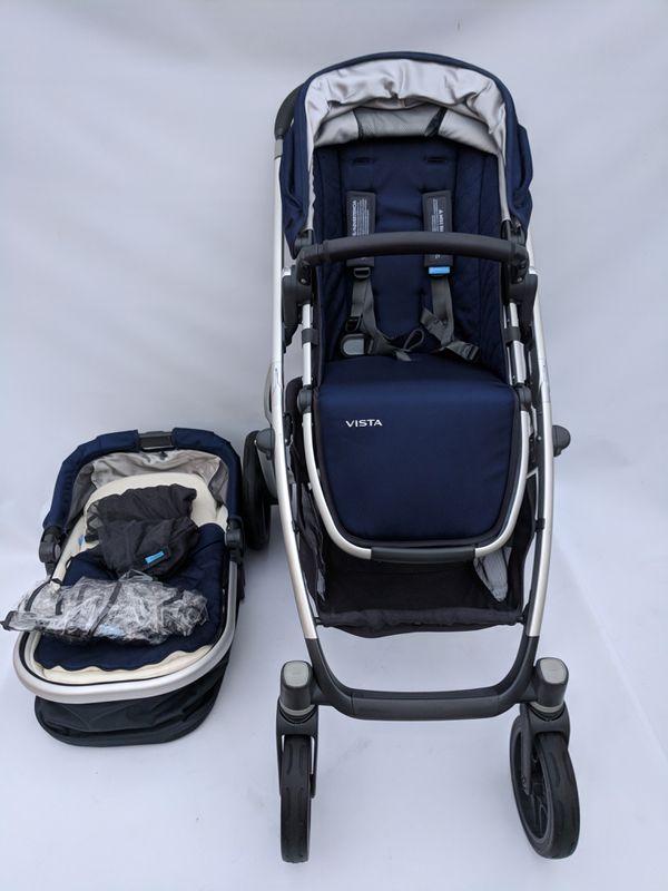 Uppababy Vista 2017 Stroller Taylor Blue For Sale In Glendale Ca Offerup