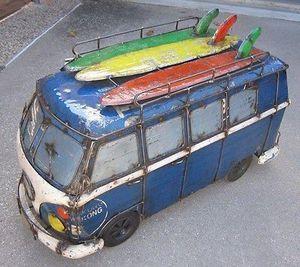 Surf Van Kombi Veedub Rolling Cooler Vw Bus Ice Chest For In San Go