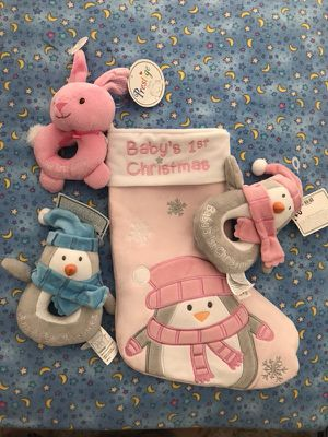 xmas stocking and rattle toys for Sale in Leesburg, VA