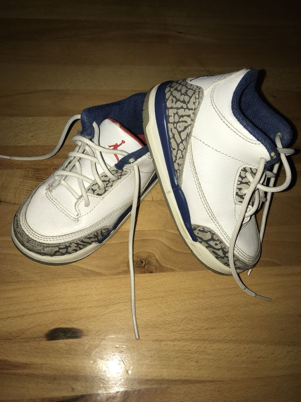 new style cb43b 327a0 Children   Toddler Jordan Retro 3, True Blue - Size 8.0c (Clothing   Shoes)  in Indianapolis, IN - OfferUp