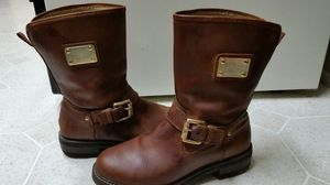 MK Michael Kors Brown Leather Boots women Size 7 1/2 for Sale in Los Angeles, CA
